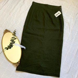 NWT Vintage Pure Wool Pencil Skirt